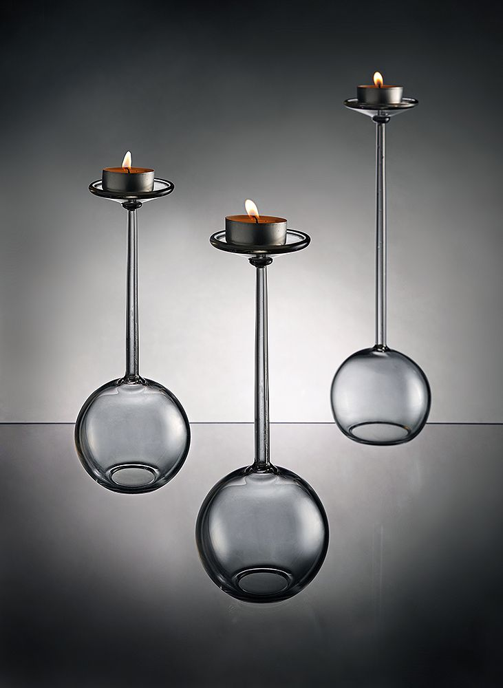 Glass candlestick - Pendulum by Filip Dobias