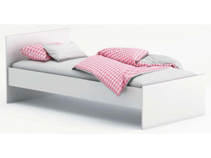 Lit 90x190 cm SWITCH coloris blanc - sans tiroir - sans sommier