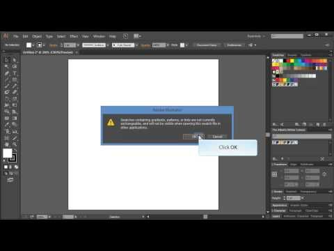 Illustrator Swatches in InDesign - YouTube