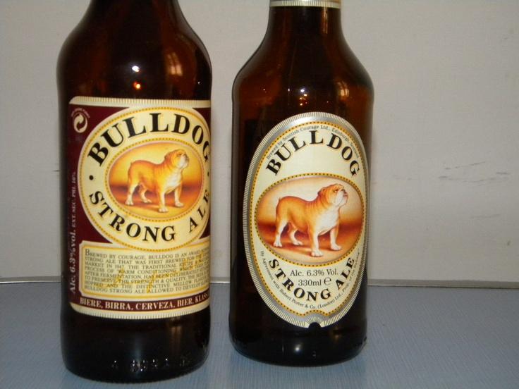 Bulldog strong ale Root beer, Beer bottle