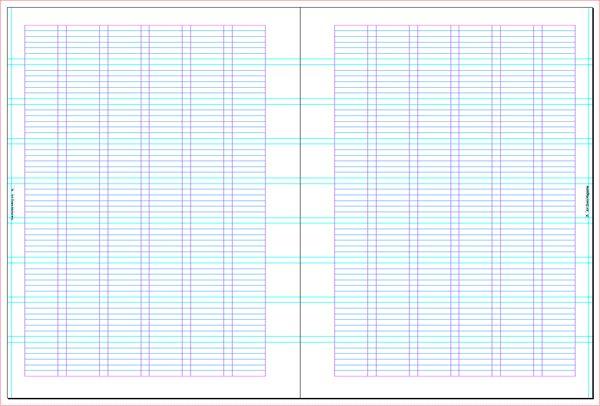 This semi-logarithmic, or semi-log, graph paper with 12 divisions - semilog graph paper