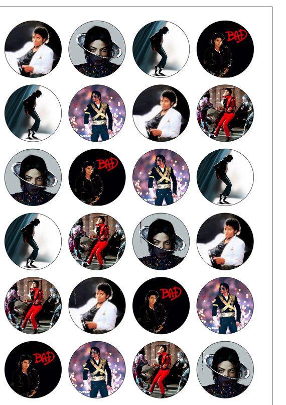 24 Precut 40mm Iconic Legend Michael Jackson Edible by TopThat2