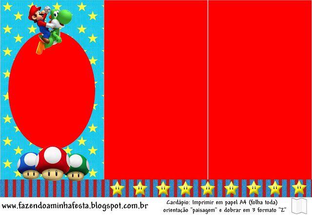 Free} Super Mario Bros Party Printables