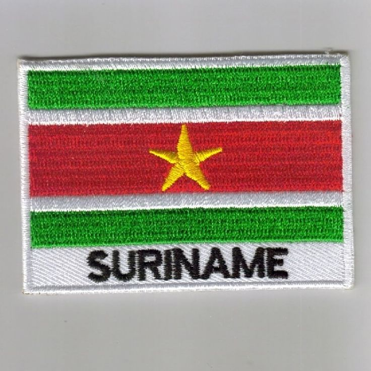 FLAG PATCH PATCHES Suriname IRON ON COUNTRY EMBROIDERED WORLD FLAG