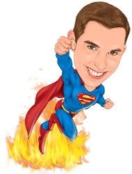 Caricature examples in Super Heros Caricatures