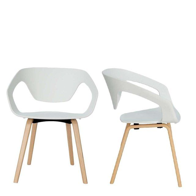 Lot de 2 chaises design scandinave danwood drawer efp for Designer de chaise celebre