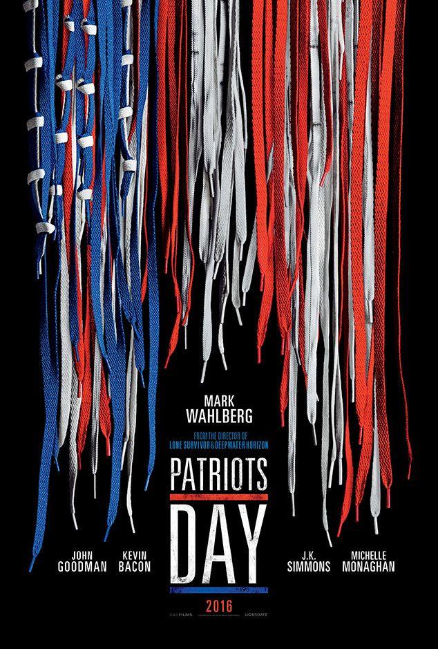 Patriots Day from carteles de película  El Peter Berg película -dirigida cuenta la historia de la Maratón de Boston 2013 bombardeo y estrellas Mark Wahlberg , John Goodman , Kevin Bacon , JK Simmons y Michelle Monaghan .