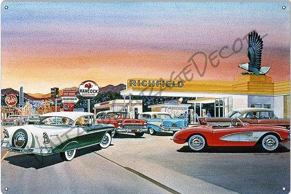 Richfield Gas Station 1955 Chevy Belair Corvettereproduction
