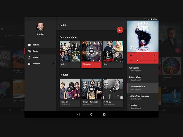 Android Music UI Kit #material #design #music #ui #kit