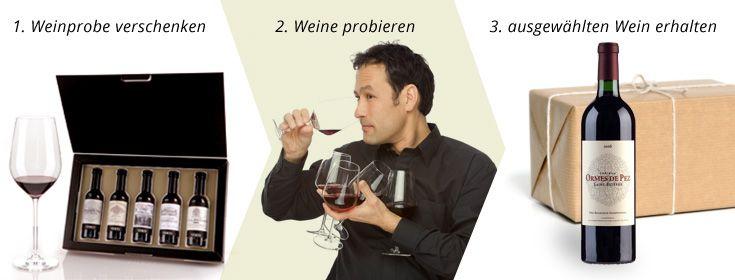 Weingeschenke & Weinpräsente | Weinproben in Mini-Flaschen | vineo.de