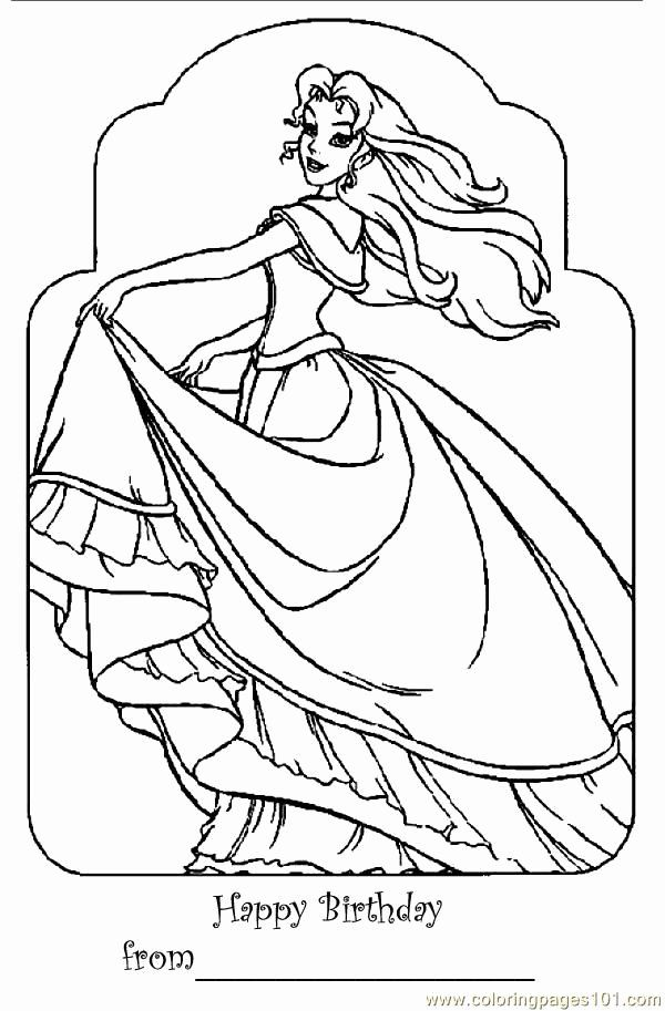 Happy Birthday Princess Coloring Pages Lovely Barbie Happy Birthday Coloring Pages Clip Art L In 2021 Birthday Coloring Pages Princess Coloring Pages Princess Coloring