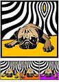 Mops no.4 Pop Art Poster Kunst Druck ...