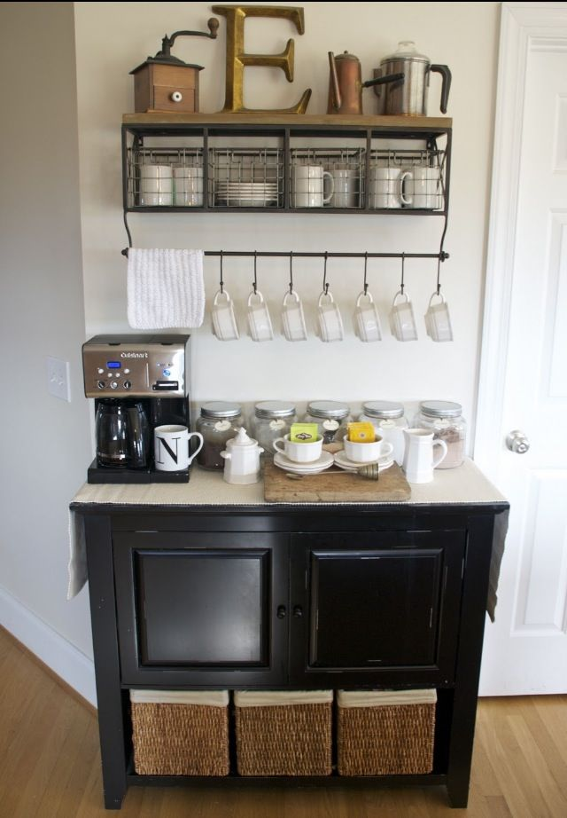 Kitchen Coffee Station Home Coffee Bars Pinterest