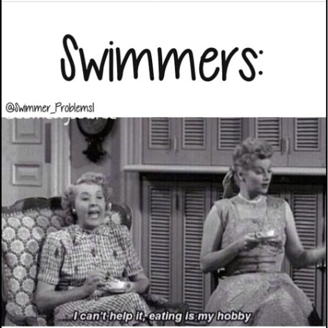 Swimmer problems... we eat so much and are still SO skinny!
