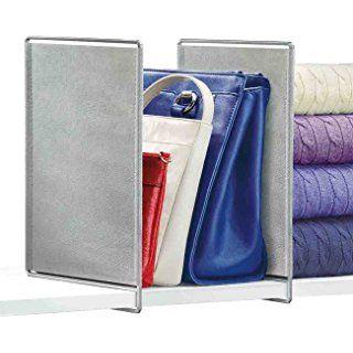 Lynk Vela Shelf Dividers - Closet Shelf Organizer - Platinum