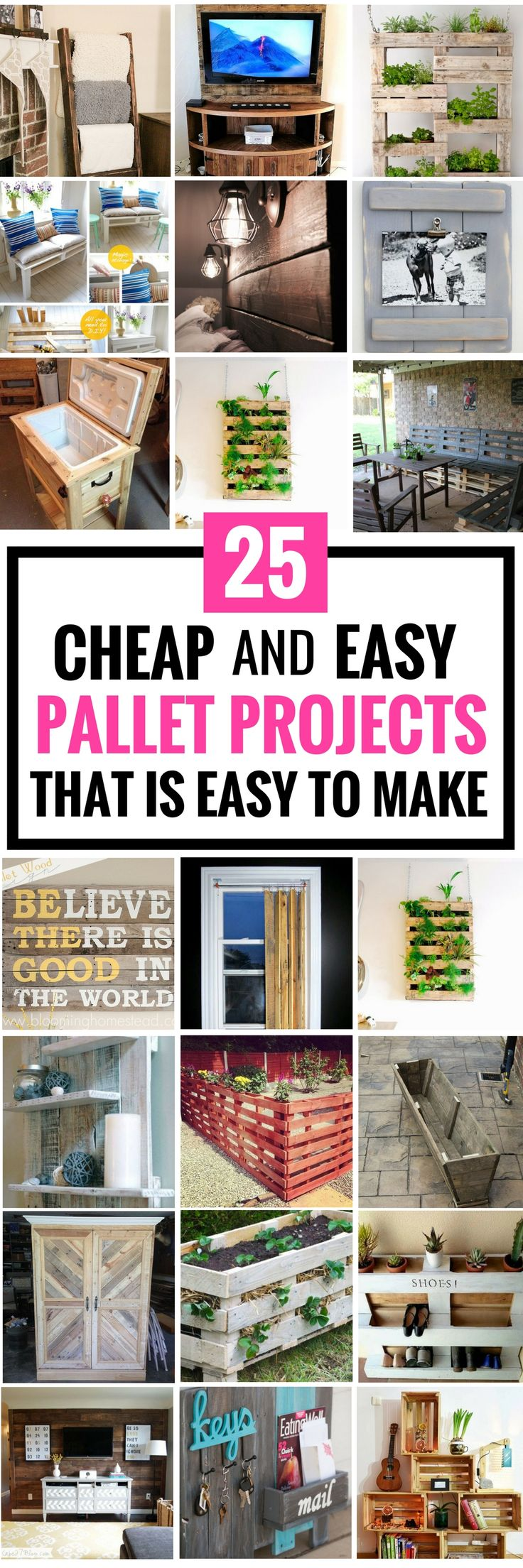 25 Cheap DIY Pallet Projects That Are