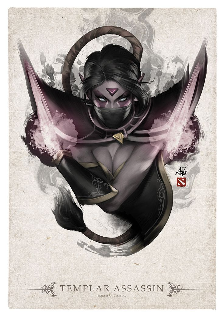 Templar Assassin Portrait by Artgerm on deviantART