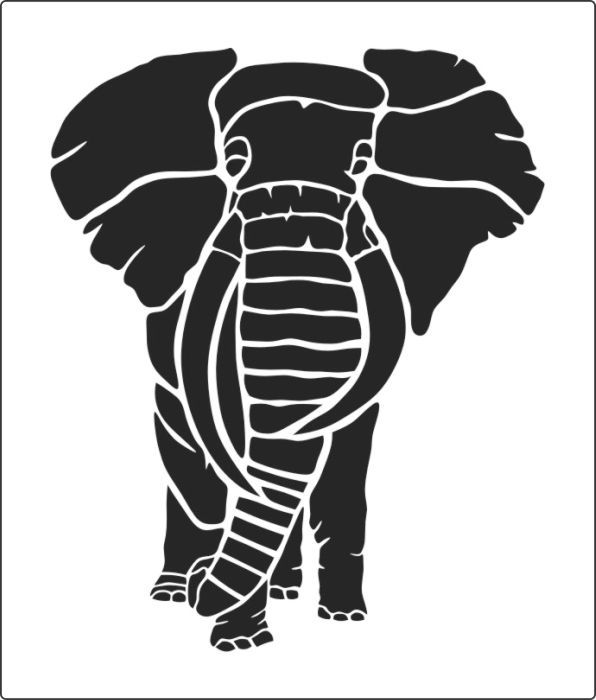 This Large Elephant Stencil Buy From The Warehouse 2