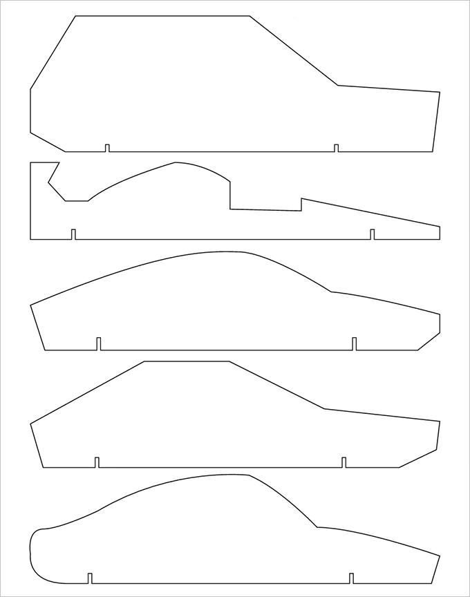 Best  Pinewood Derby Car Templates Ideas On