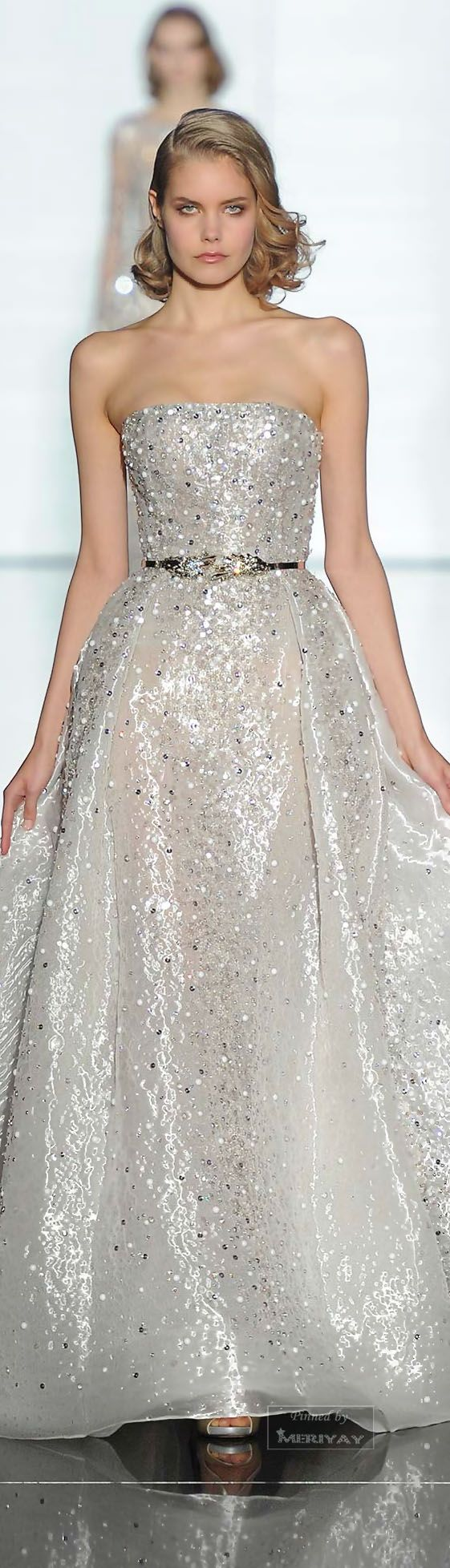 Wow - this is like a fairy tale princess dress! Zuhair Murad.Spring 2015 Couture.