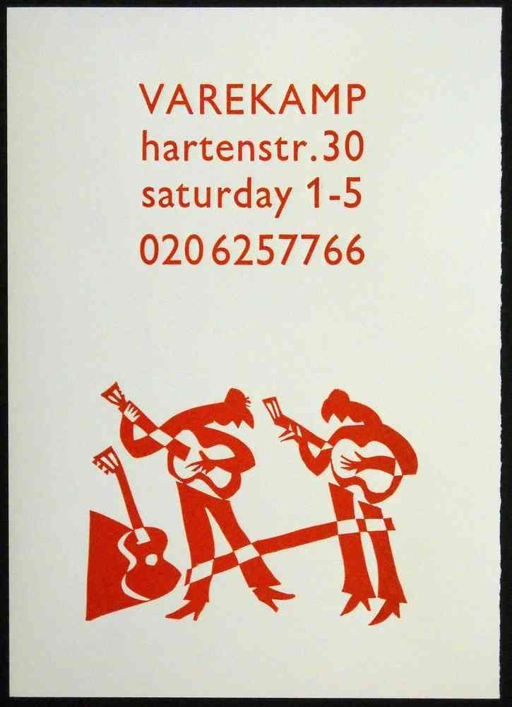Music poster - Linocut and letterpress