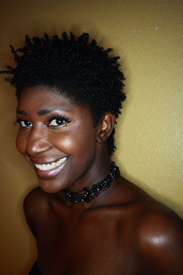 Felicia Leatherwood Loving Your Hair short natural hairstyle front view - Felicia Leatherwood – thirstyroots.com: Black Hairstyles and Hair Care