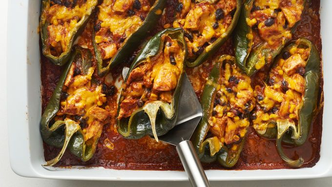 Stuffed Poblano Peppers Recipe Stuffed Peppers Recipes Stuffed Poblano Peppers