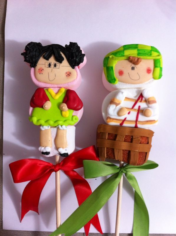 105 best images about 1 marshmallow art on pinterest how for Paletas de cocina decoradas