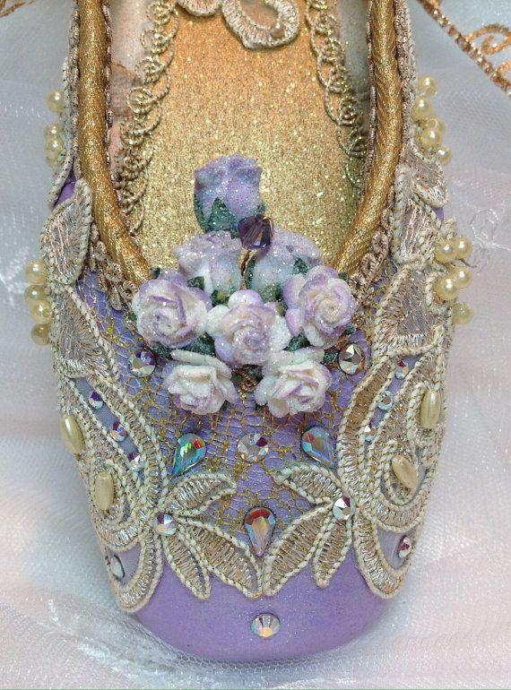 Purple and Gold Sugarplum Fairy decorated by DesignsEnPointe