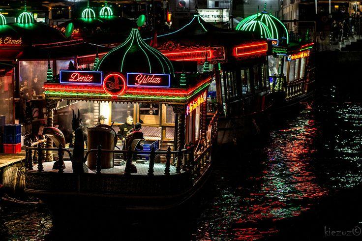 Floating restaurants in Istanbul
