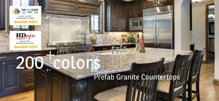 200+ colors - Prefab Granite Countertops