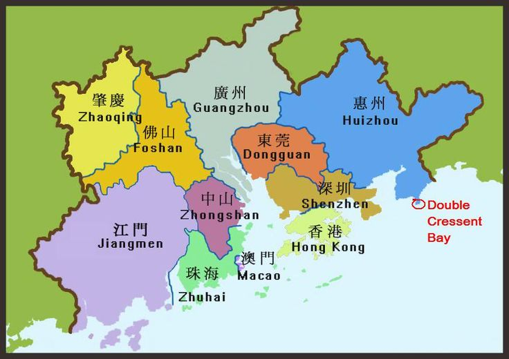 Huizhou is one of the 9 major cities in Guangdong Province's Pearl River Delta, neighboring cities are Guangzhou, Dongguan and Shenzhen