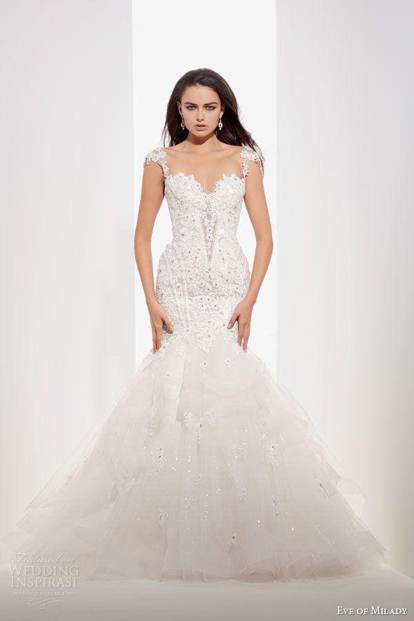 Eve of Milady & Amalia Carrara Wedding Dresses fall 2014 2015   cap sleeve mermaid wedding dress style 1542