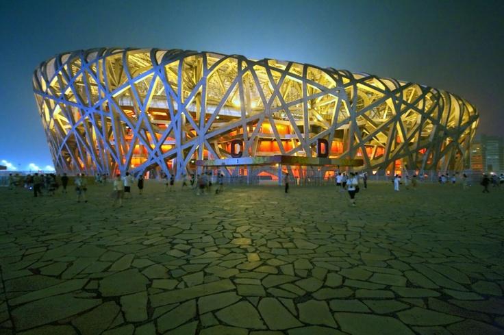 Bejing's National Stadium/ ''Bird's Nest'', built by Eduardo Souto de Moura