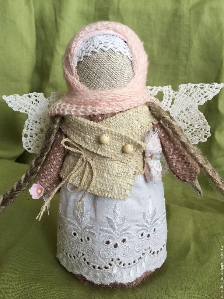 """Купить Ангел """"Добра и благополучия"""" (бежевый, белый, розовый) - бежевый, ангелочек, ангел-хранитель, ангел"""