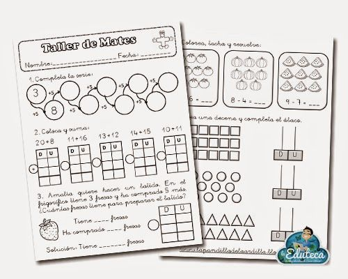 RECURSOS PRIMARIA | Taller de matemáticas para 1º de Primaria ~ La Eduteca