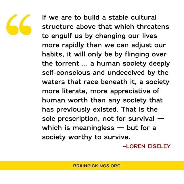 Today on Brain Pickings, the great anthropologist, science writer, and poet Loren Eiseley on the inner light that makes us human and the relationship between nature and human nature – gorgeous read from 1960: brainpickings.org