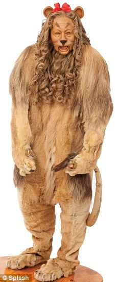 Under the hammer: The Cowardly Lion costume from The Wizard of Oz is going up for sale