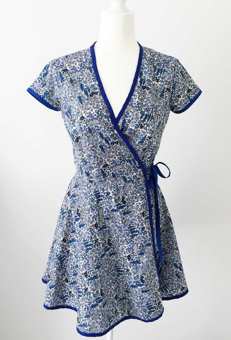 DIY Wrap Dress: This is McCalls Patterns M6959. I shortened the skirt slightly. The fabric is Japanese cotton lawn - I highly recommend this sewing pattern! You can see all the sewing steps on my Sew-along blog series.