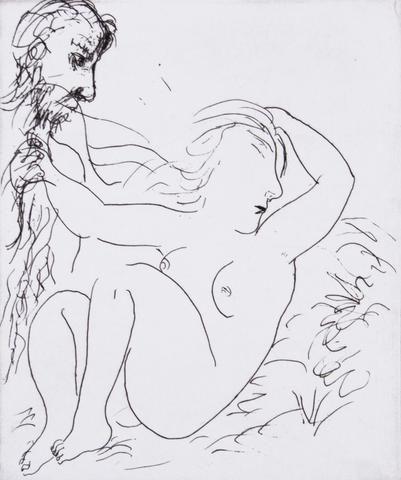 Garry Shead 'Salome' - etching on paper – Angela Tandori Fine Art