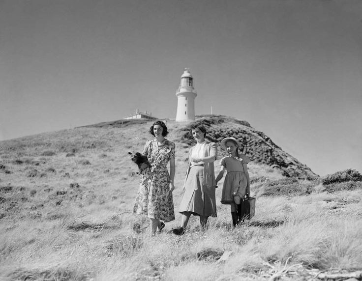 Maatsuyker Island Lighthouse, which was built in 1891, in Maatsuyker Island, Australia, on May 3, 1950. - The AGE/Fairfax Media via Getty Images
