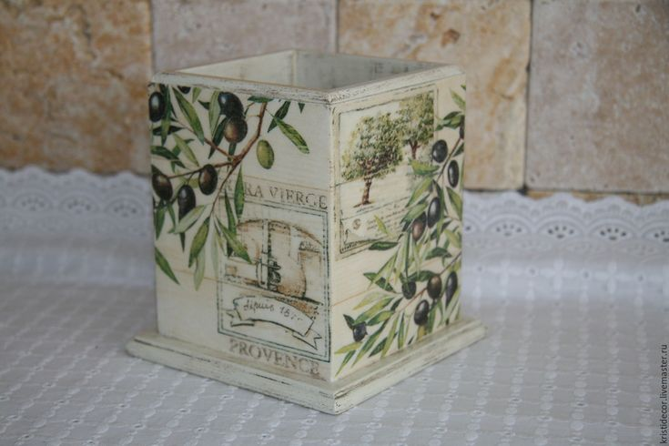 """Купить Короб-подставка """"Provence"""" - подставка для карандашей, подарок, кухня Прованс, интерьер кухни"""