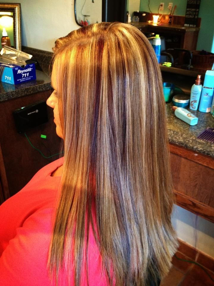 red lowlights in blonde hair | Strawberry blonde hair with red violet lowlights and ... | Makeup/Hair