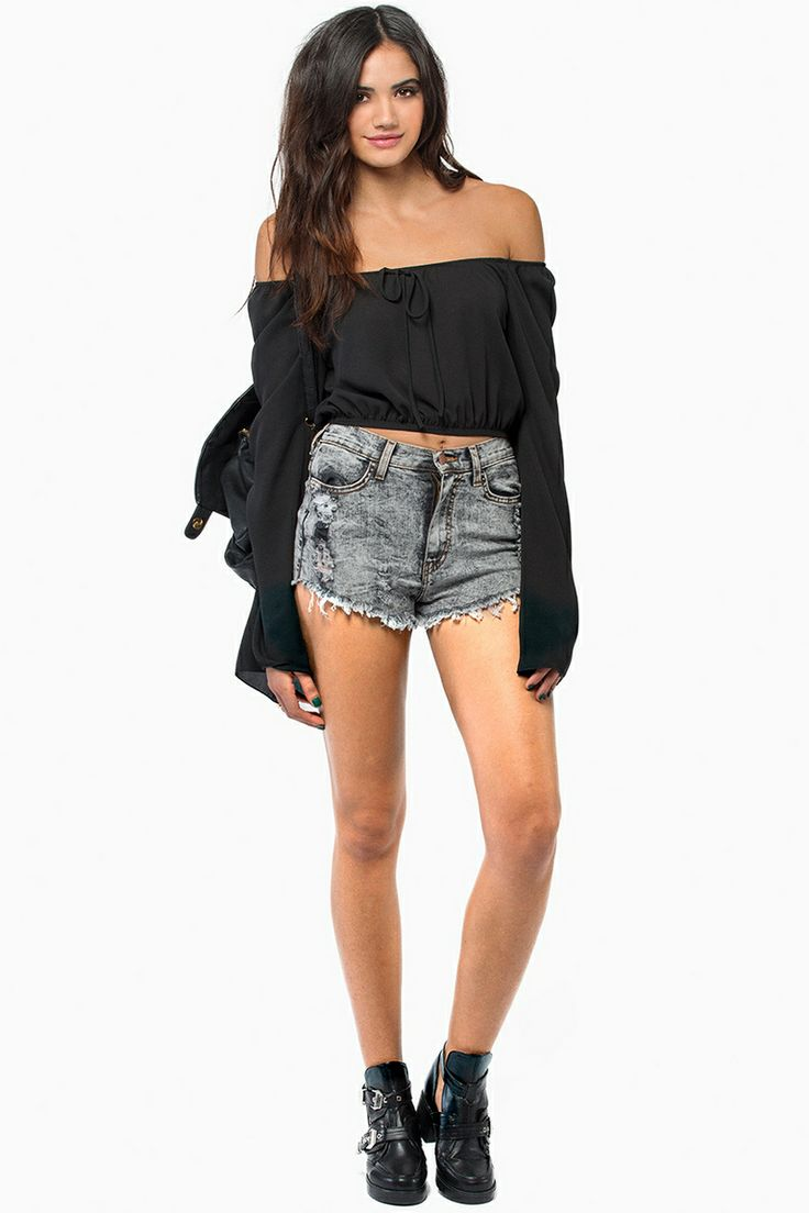loose and cute | Long sleeve crop top, Fashion, Tops