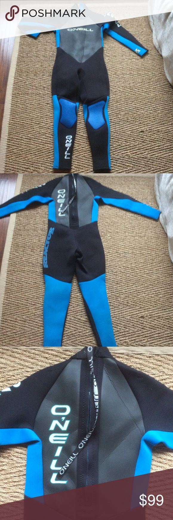 Awesome ONEILL REACTOR WETSUIT zip back neoprene Awesome ONEILL REACTOR WETSUIT zip back neoprene EUC For surfing, diving, ski, or any sport in water. 3/2 density O'Neill Swim