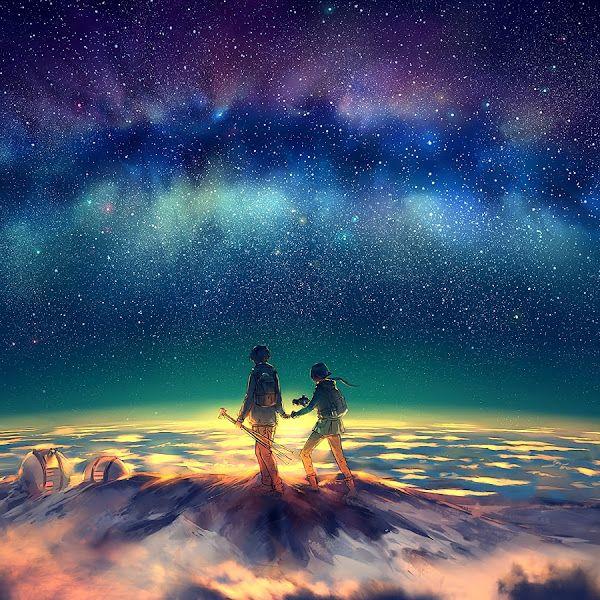 Anime Night Sky Wallpaper 4k
