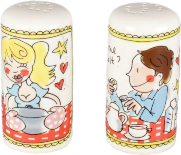 Peper- en zoutstel 'Even bijkletsen'