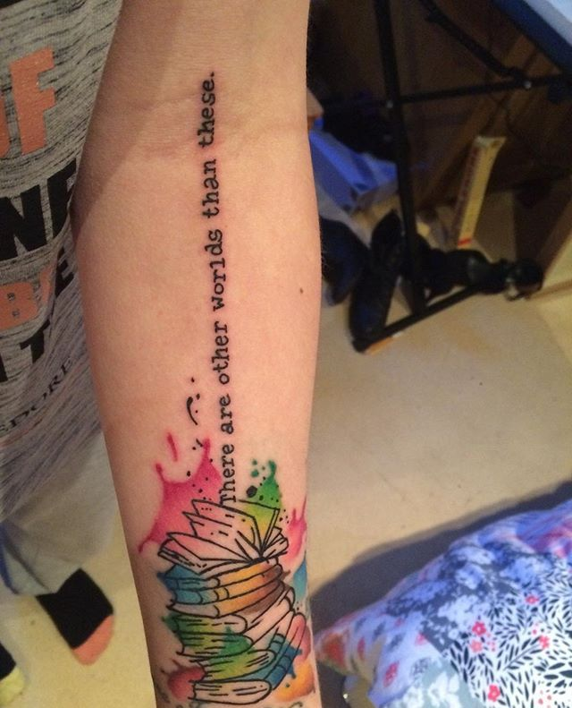 "Pin for Later: 40 Beautiful Book Quote Tattoos The Gunslinger, Stephen King ""There are other worlds than these."""