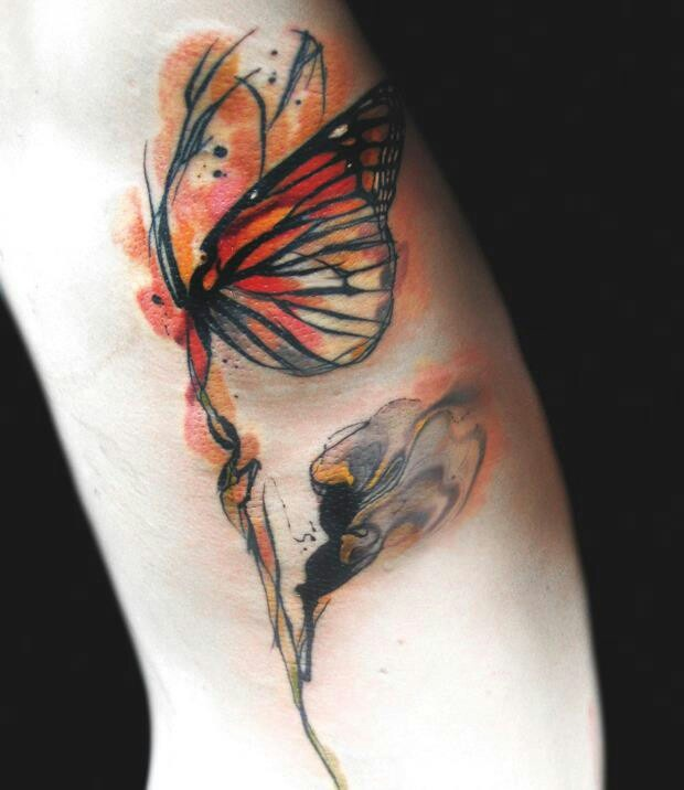 abstract butterfly tattoo tattoos piercings pinterest tattoo tatoos and body art. Black Bedroom Furniture Sets. Home Design Ideas