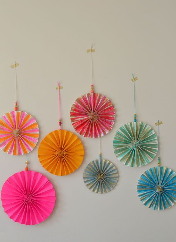 Watercolor Paper Pinwheels